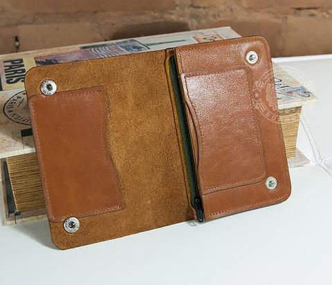 WL269 Необычный кошелек из кожи с отделением на молнии