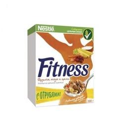 Завтрак Хлопья Nestle Fitness & Fruits с фруктами, ягодами иорехами 300г