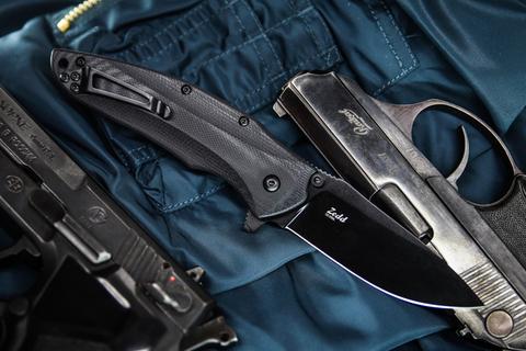 Складной нож Zedd D2 Black Titanium