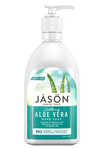 Успокаивающее жидкое мыло с гелем алоэ, Jason