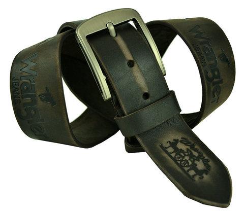 Мужской коричневый потёртый кожаный ремень 45Millen-056