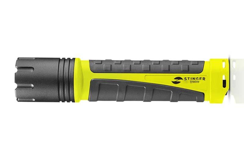 Фонарь светодиодный STINGER GripLite, 260 лм, 7600 кд, 35x165 мм, 166 гр, жёлтый, в коробке