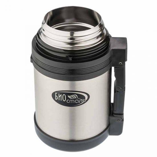 Термос универсальный (для еды и напитков) Biostal (0,6 литра), стальной*