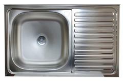 Мойка КромРус S-216 для кухни из нержавеющей стали, правая