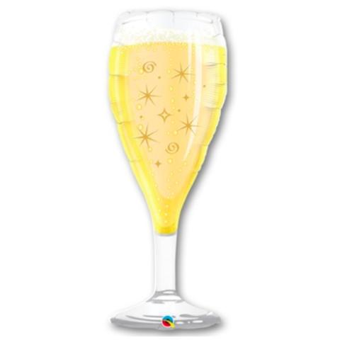 Воздушный шар фигура Бокал шампанского, 99 см