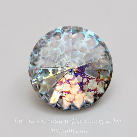 1122 Rivoli Ювелирные стразы Сваровски Crystal White Patina (14 мм)