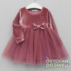 Платье (бархат, сетка)