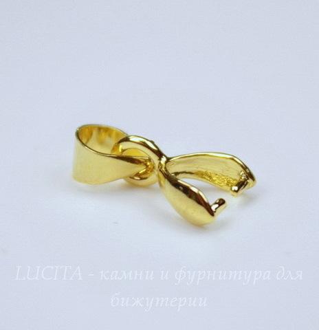 Держатель кулона - петелька 10х5х3 мм (цвет - золото)