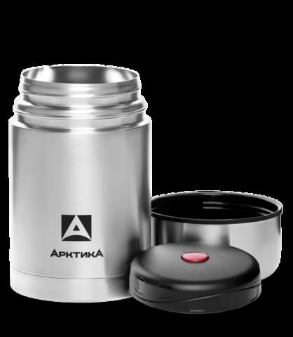 Термос для еды Арктика (1 литр) с супер-широким горлом, стальной, чехол