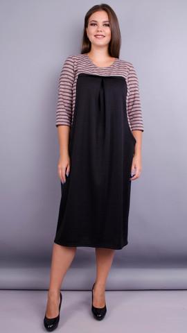 Роксолана. Платье для женщин size plus. Пудра.