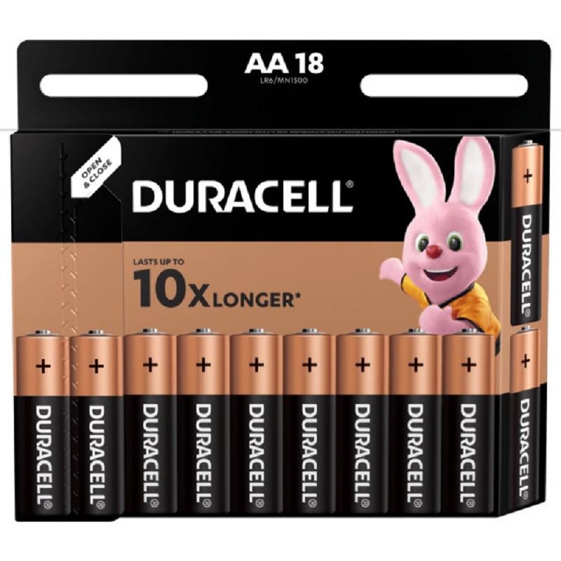 Батарейки DURACELL АА/LR6-18BL BASIC бл/18