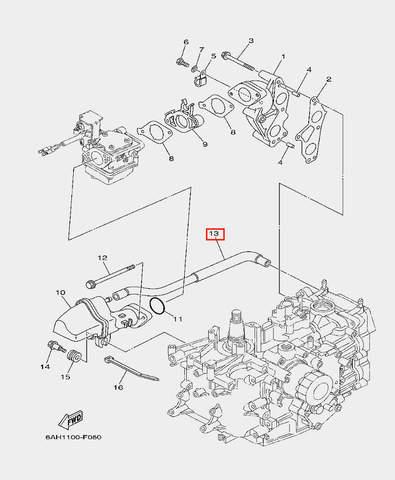 Шланг для лодочного мотора F20 Sea-PRO (6-13)