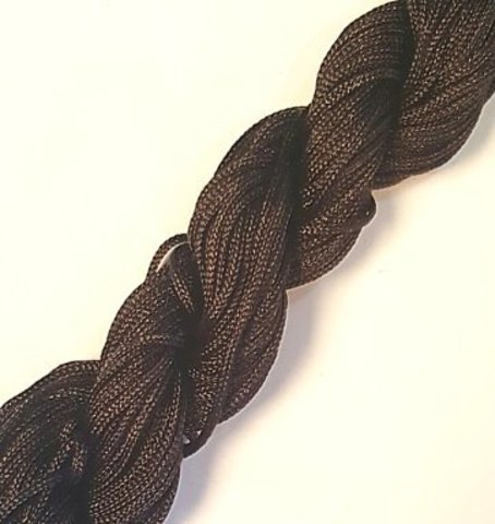Шнур для  браслетов Шамбала (нейлон) 1.0 мм. коричневый