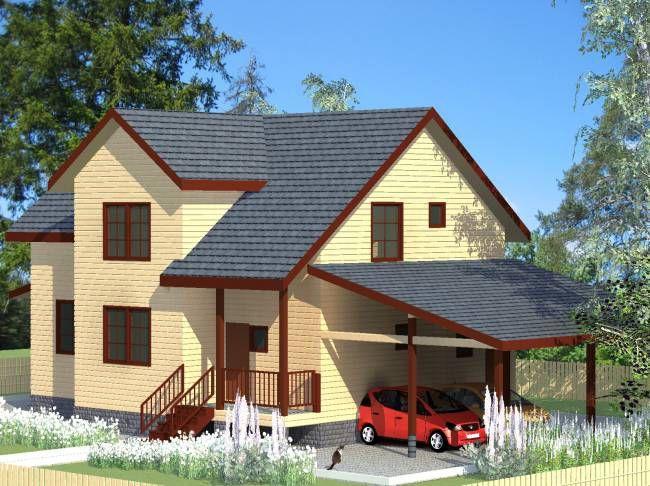 """Строительство домов из бруса и бревна Дом из бруса """"МД-Б-232"""" 232 кв.м. Дом_из_дерева_3.jpg"""
