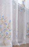 Готовая штора Верба (синяя)