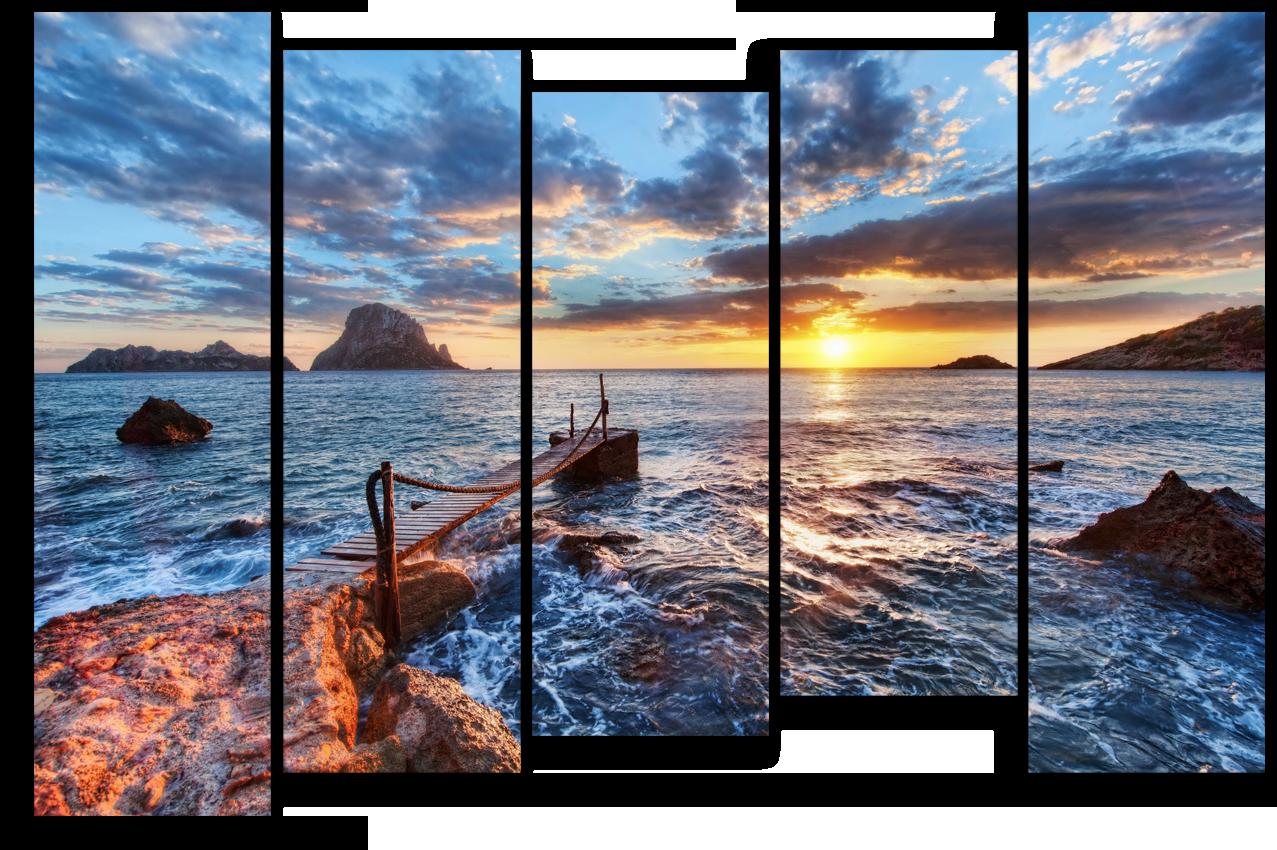 "Природа Модульная картина ""На берегу моря"" М930.png"