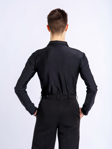 Рубашка-боди черная для танцев арт. Reb4, Reb5