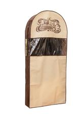 чехол для шуб lux длинный, шоколадный париж