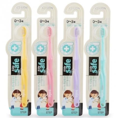 Зубная щётка от 0 до 3 лет, CJ Lion, Kids Safe, №1, 1 шт