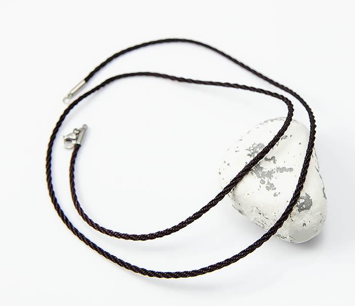 PL289-2 Плетеный шнурок гайтан для крестика из шелка фото 01