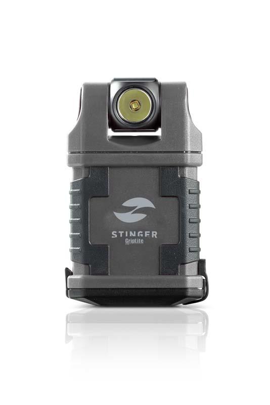 Фонарь карманный светодиодный STINGER GripLite, 160 лм, 1250 кд, 45x25x83 мм, серый, в коробке