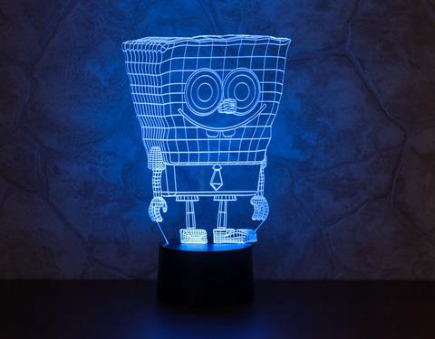 3D ночник Спанч Боб