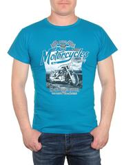 0721-3 футболка мужская, голубая