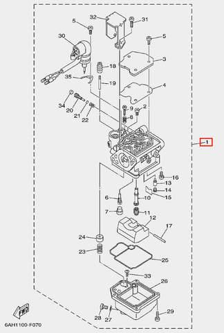 Карбюратор в сборе для лодочного мотора F20 Sea-PRO (7-1)