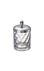 Емкость для косметики большая 88804CR Salomonic Spiral Silver от Windisch