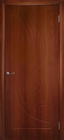 Дверь Дубрава Сибирь Лилия, цвет итальянский орех, глухая