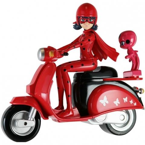 Фигурка Леди Баг со скутером, Bandai