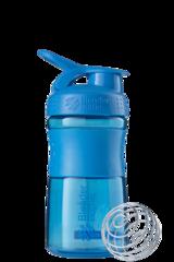 BlenderBottle SportMixer, Универсальная Спортивная бутылка-шейкер с венчиком.  Cyan-бирюзовый 591 мл