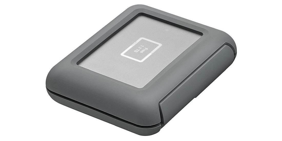 Внешний жесткий диск LaCie DJI Copilot USB 3.1 TYPE C Grey 2Tb вид сбоку