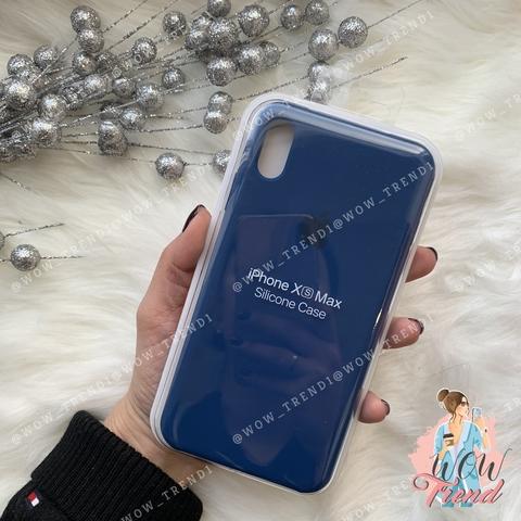 Чехол iPhone XS Max Silicone Case /blue horizon/ горизонт original quality