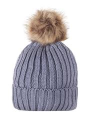 HT1806-4 шапка женская, серая