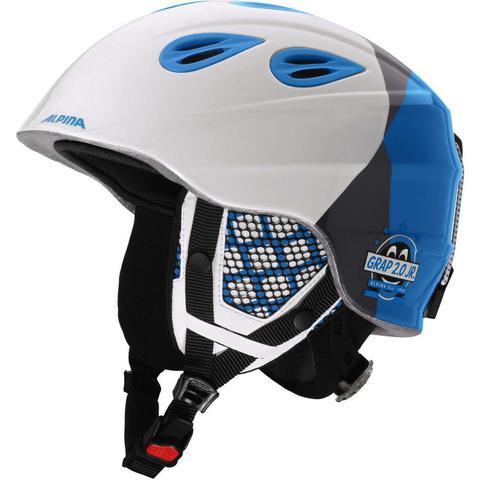 шлем горнолыжный Alpina GRAP 2.0 JR white-silver-blue