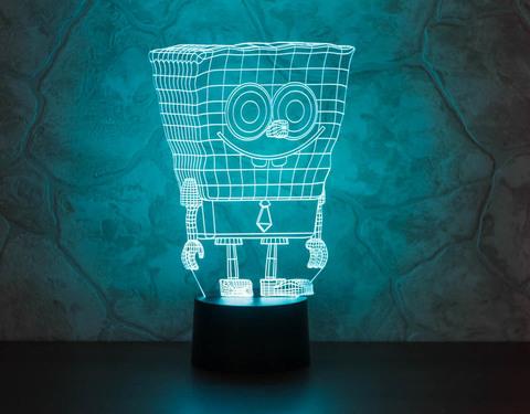 3D светильник Спанч Боб