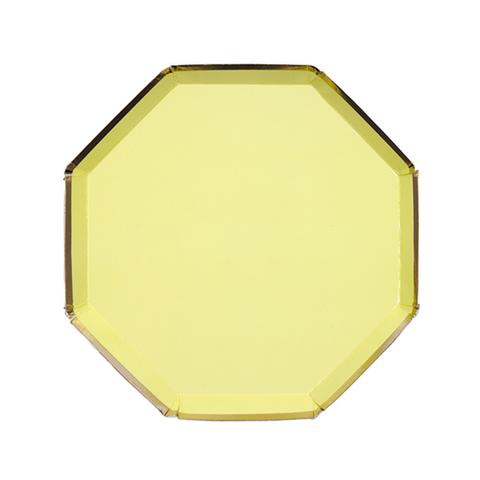 Тарелки маленькие, желтые