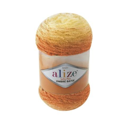 Купить Пряжа Alize Softy Plus Ombre Batik Цвет 7285 Оранжево-желтый | Интернет-магазин пряжи «Пряха»