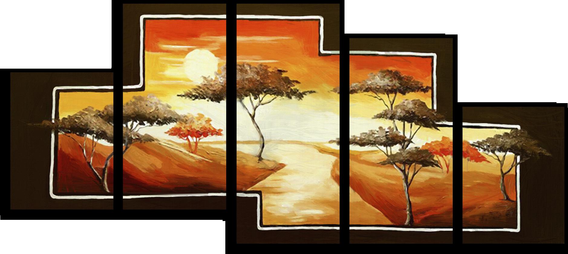 """Природа Модульная картина """"Деревья на закате"""" М300.png"""