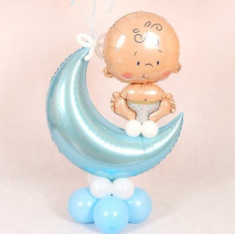 Стойка для шаров в виде месяца с малышом
