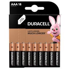 Батарейки DURACELL ААA/LR03-18BL BASIC бл/18