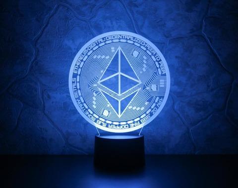 3D ночник Ethereum (Эфириум)