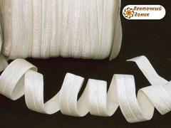 Резинка для повязок с легким блеском кремовая 16 мм