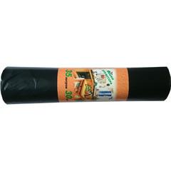Мешки для мусора ПВД 35л 50x64см 20мкм черные 30шт/рул
