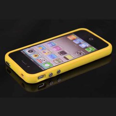 Бампер силиконовый для iPhone 4 / 4S ЖЕЛТЫЙ