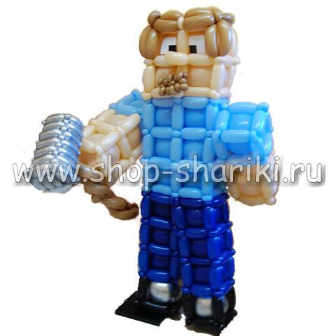 Стив из воздушных шаров Minecraft