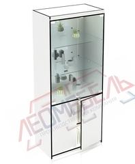 В-206-З Витрина стеклянная задняя стенка зеркало