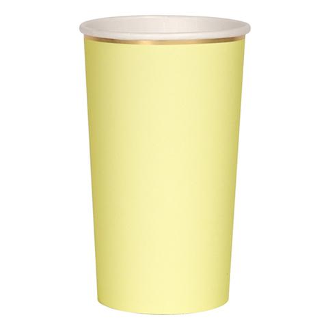 Стаканы высокие для коктейлей, желтые