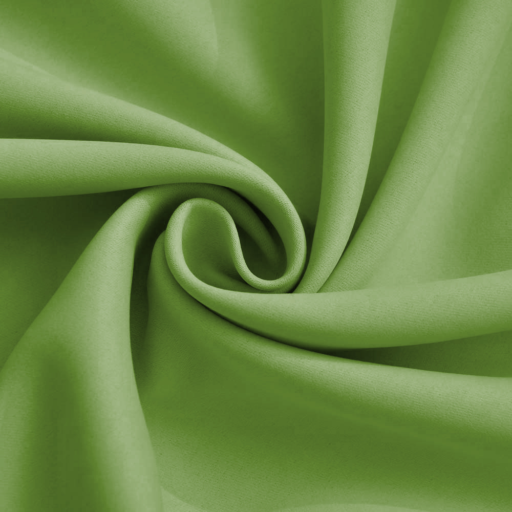 Комплект штор блэкаут (зелёный) и вуаль (белый)